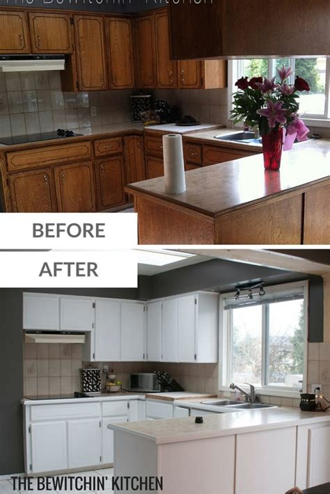 painting kitchen cabinets transforming dated 1970s oak