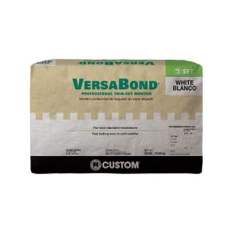versabond thinset for porcelain tile custom building products versabond white 50 lb fortified