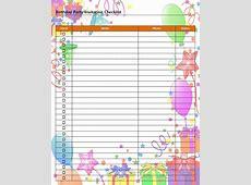 Birthday Party Invitation Checklist
