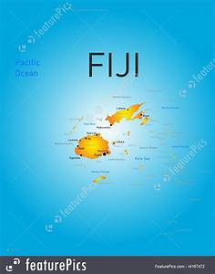 Signs And Info: Fiji Country Map - Stock Illustration ...
