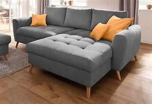 Couch L Form Grau : home affaire polsterecke jordsand mit feiner steppung und vielen losen kissen online kaufen ~ Markanthonyermac.com Haus und Dekorationen