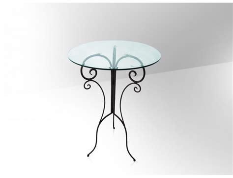 la m 233 tallerie table haute de bar en fer forg 233 plateau en verre