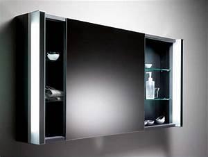 Spiegelschrank Badezimmer Holz : spiegelschrank bad schwarz mit schiebet r inklusive glasablage und led beleuchtung ~ Markanthonyermac.com Haus und Dekorationen