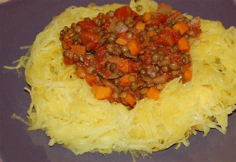 courge spaghetti 224 la bolognaise de lentilles maman 231 a d 233 borde