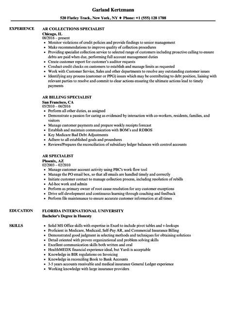 Ar Specialist Resume Samples  Velvet Jobs. Payroll Resume. Esl Teacher Resume. Tech Resume Template. Career Switch Resume Sample. Restaurant Resume Skills. Store Manager Resume. Cna Resume Sample For New Graduate Cna. Pre Med Resume