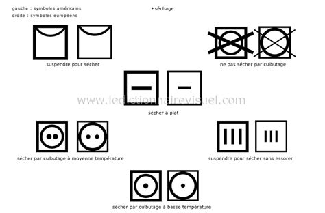 v 234 tements gt symboles d entretien des tissus image dictionnaire visuel