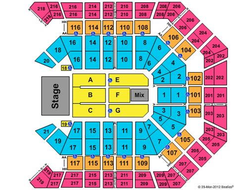 mgm grand garden arena seating chart rows car interior