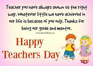 Teachers Day Greeting Card | 1000+ Teachers Day Quotes ...