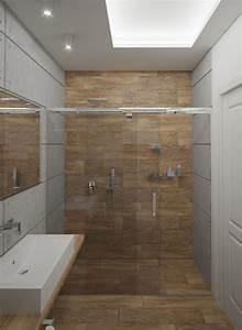 Kleines Bad Dusche : 32 moderne badideen fliesen in holzoptik verlegen ~ Markanthonyermac.com Haus und Dekorationen