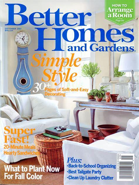Better Homes & Gardens September 20071