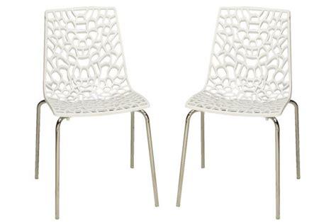 lot de 2 chaises blanches traviata chaises design pas cher