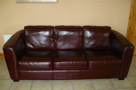 decoro 3 seater brownchestnut leather sofa for sale for sale in athenry galway from nathan12