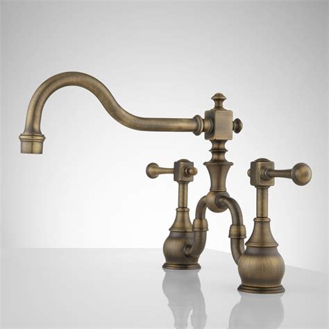 Antique Brass Faucet Favorite In Bathroom — The Homy Design. Industrial Pulley Light. Round Marble Table Top. Plate Rail. Bed Seat. Industrial Lights. Basement Rugs. The Williams Group. Stove With Griddle
