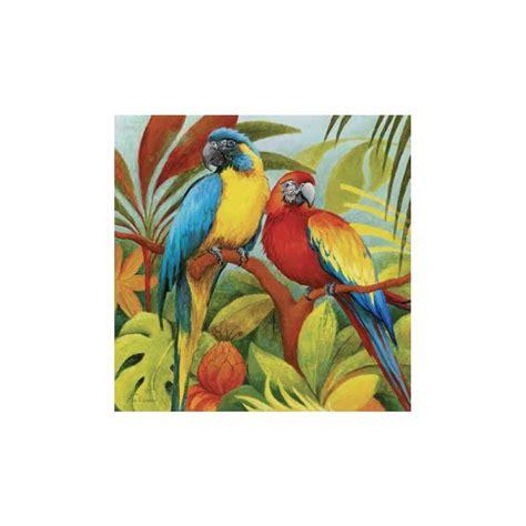 tableau perroquets dans la jungle imprim 233 sur toile et