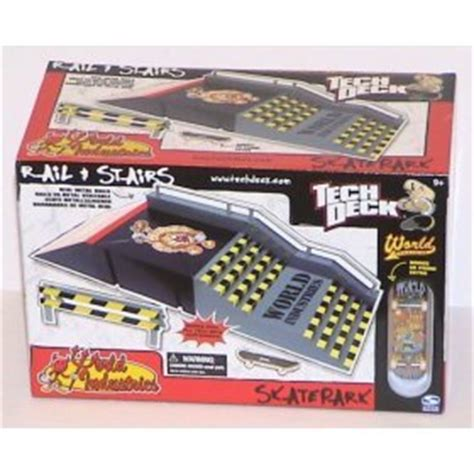 tech deck skate park rail and stairs world