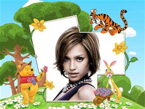 montage photo cadre enfant winnie l ourson pixiz