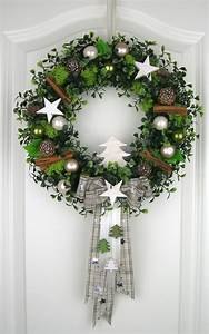 Weihnachtskranz Für Tür : weihnachtskranz wei t rkranz wei winterkranz deko kranz weihnachten wandkranz navidad ~ Markanthonyermac.com Haus und Dekorationen