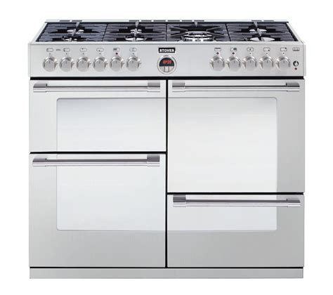 buy stoves sterling r1000dft dual fuel range cooker stainless steel free delivery currys