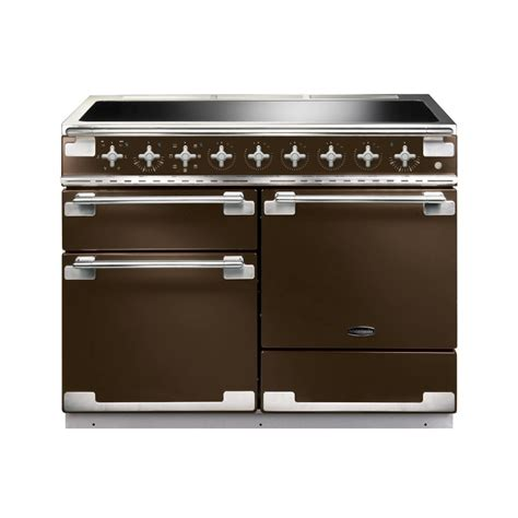 rangemaster elise 110 induction electric range cooker in chocolate