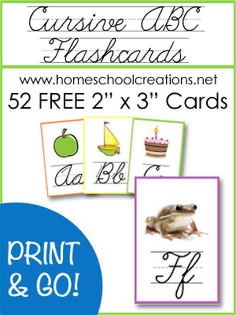 {freebie} Cursive Abc Flashcards And Posters  Life Of A Homeschool Mom