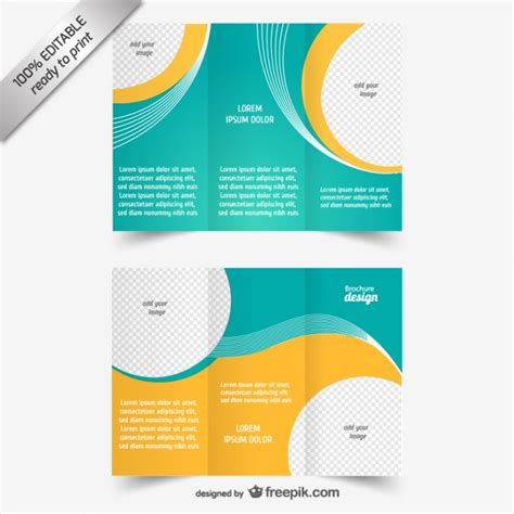 Brochute Template Free Download by Vector Tri Fold Brochure Template Vector Free Download