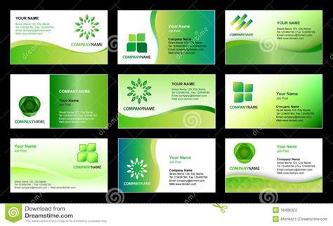 Business Card Template Design Stock