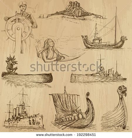 Medieval Boat Drawing by 301 Moved Permanently