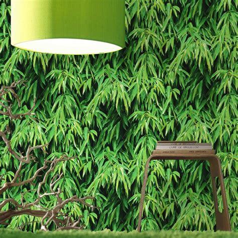 papier peint vert bambou pour une ambiance v 233 g 233 tale esprit botanique ps et merlin