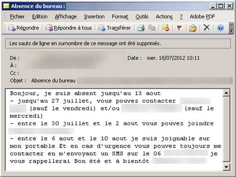 top 10 des vrais messages d absences de bureau topito