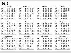 2019 Printable Calendar Templates [Free]** Printable