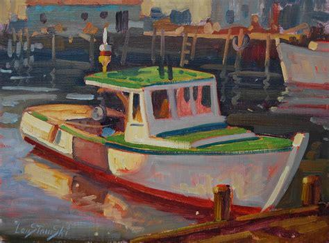 Lobster Boat Art gloucester lobster boat by len stomski