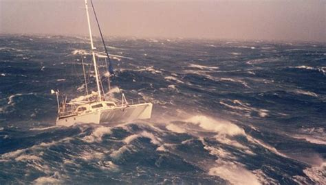 Outremer Catamaran Capsize by These Rare Images Of A Catamaran In 60 Knot Winds Were