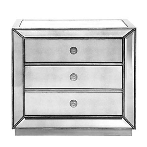 omni mirrored 3 drawer chest stylish silver drawers z