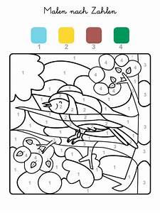 Kinder Bilder Malen : ausmalbild malen nach zahlen vogel ausmalen kostenlos ausdrucken fr hling pinterest malen ~ Markanthonyermac.com Haus und Dekorationen
