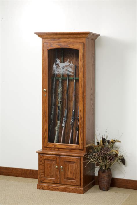 wood gun cabinet with etched glass inspirative cabinet decoration
