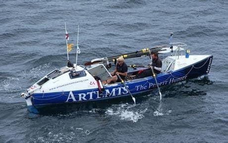 Ocean Sculling Boat by British Rowers Break 114 Year Old Transatlantic Crossing