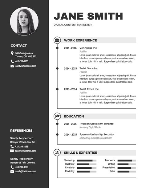 Infographic Resume Template  Venngage. Technology Skills Resume. Resume Template For Teenager First Job. Resume Order Of Work Experience. Electrical Design Engineer Sample Resume. Call Center Customer Service Representative Resume Examples. Cna Job Description On Resume. Testing Tools Resume For Experienced. Google Drive Resume