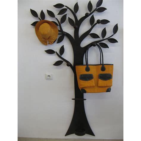 porte manteau arbre m 233 tal murale d 233 coratif 7 pat 232 res marron