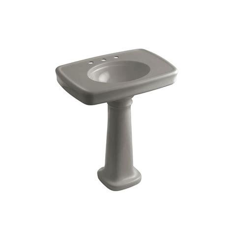 Kohler Archer Pedestal Sink Home Depot by Kohler Bancroft Vitreous China Pedestal Combo Bathroom