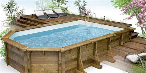 piscine en bois semi enterre leroy merlin beautiful attrayant piscine semi enterree castorama