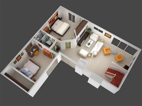 tiny house floor plans small residential unit 3d floor 1000 ideas about one bedroom house plans on