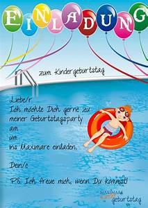Einladung Kindergeburtstag Gestalten : einladung kindergeburtstag schwimmen basteln geburtstag einladung pinterest birthdays ~ Markanthonyermac.com Haus und Dekorationen