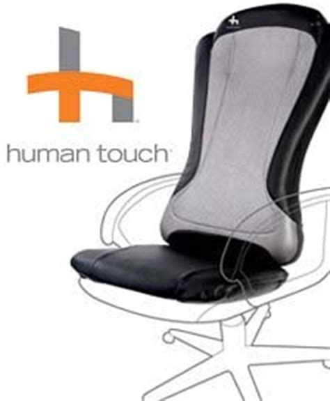 human touch ht 1470 back pad roller massaging chair cushion with real rollers and
