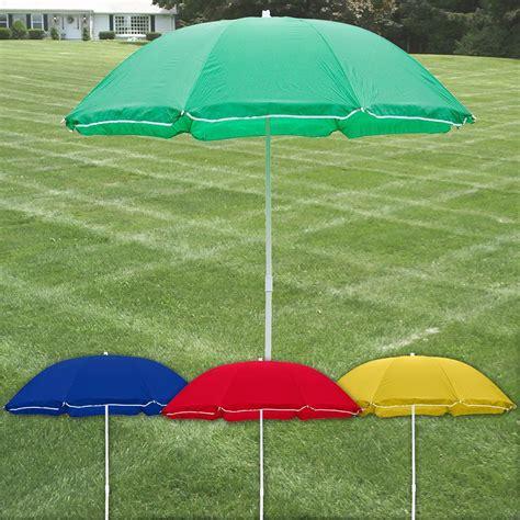 large garden patio 1 9m parasol patio beech umbrella shade table protection ebay