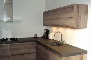 Beton Cire Verarbeitung : beton cir of beton cire keukenblad verkoop en montage ~ Markanthonyermac.com Haus und Dekorationen