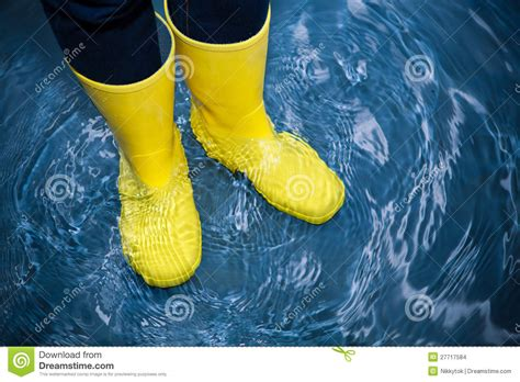 Rubber Boot Water by Rubber Boots In The Water Stock Photo Image Of Melt