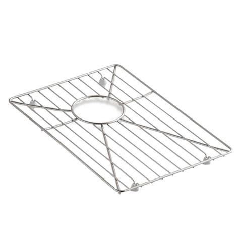 kohler vault and strive stainless steel bottom sink basin rack k 6647 st the home depot