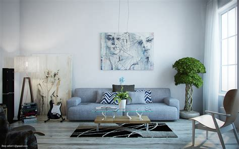 Modern Living Room Paintings : Light-filled Contemporary Living Rooms