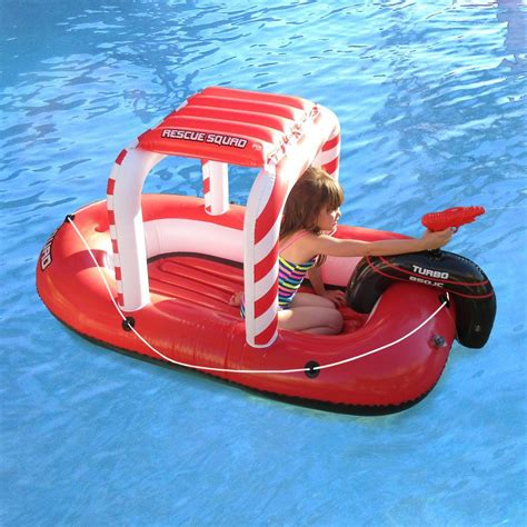 Blow Up Boat Toy by Blue Wave Rescue Squad Inflatable Boat With Squirter