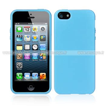 coque apple iphone 5 silicone gel housse bleu